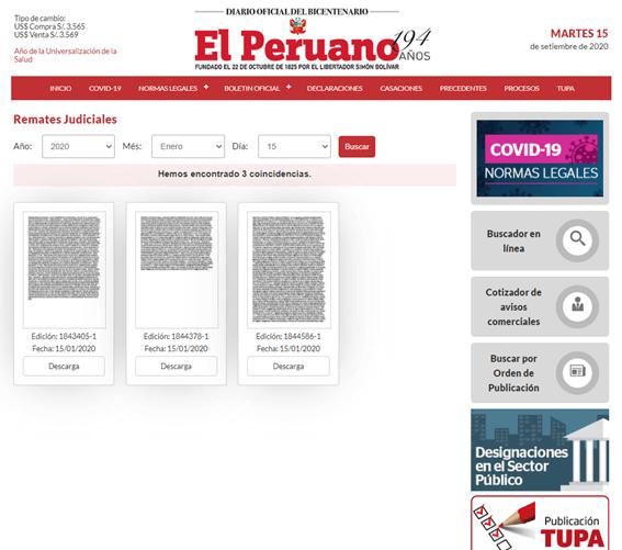 remates judiciales el peruano 1