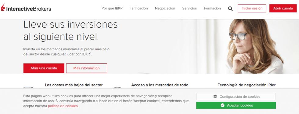 Página Interactive Brokers